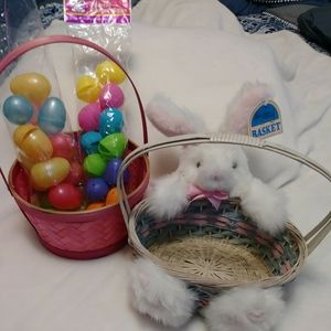 EASTER BUNDLE 2 Baskets 2 packs of plastic eggs